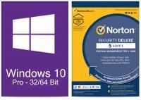 Windows 10 Pro (1 PC) + Norton Security Deluxe (5 Geräte / 1 Jahr) - ESD