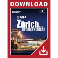 Prepar3D V4 Mega Airport Zürich V2.0 professional - add-on - ESD