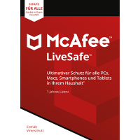 McAfee LiveSafe 2018 Unlimited Devices / 12 Monate - ESD