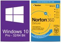 Windows 10 Pro (1 PC) + Norton 360 Deluxe (3 Geräte / 1 Jahr) - ESD