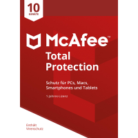 McAfee Total Protection 2018 10 Geräte / 12 Monate - ESD