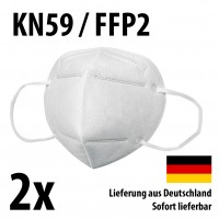 Atemschutzmasken KN95 / FFP2 - 2er-Set