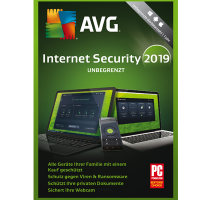 AVG Internet Security (2019) - Unbegrenzte Geräte / 1 Jahr  - ESD
